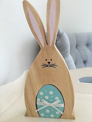 NEW! Easter Wooden Bunny Decoration by Sass & Belle - BLUE/TURQUOISE