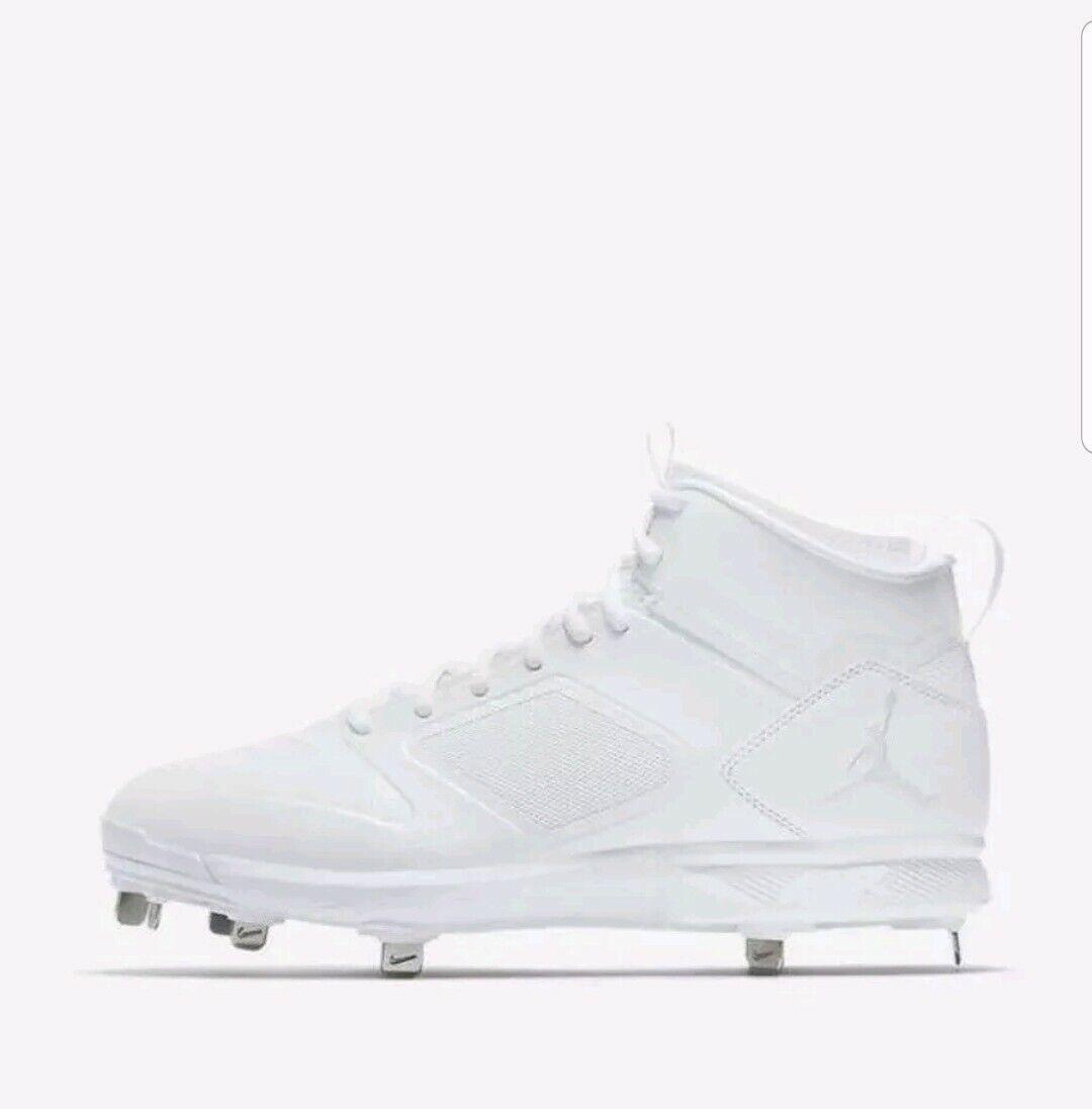 Air Jordan Jeter Clutch Metal Cleats RE2PECT Baseball White [AO2914-102] Size 8