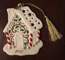 Lenox 2015 Gingerbread House Christmas Ornament ~ EUC!