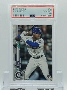 2020 Topps #64 Kyle Lewis Seattle Mariners Rookie Card RC PSA 10 Gem Mint