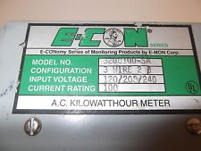 E-con 3208100-SA Single Phase KWH Meter 100AMP