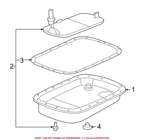 For BMW Genuine Automatic Transmission Filter 24341423376