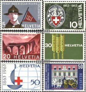 Schweiz-768-773-kompl-Ausgabe-gestempelt-1963-Jahrestage