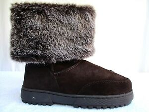 c454cc393a Image is loading RAMPAGE-ASHLEE-GENUINE-SUEDE-LEATHER-FAUX-FUR-LINED-