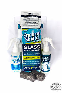 Enduroshield glass protection for your shower reduces cleaning time ebay - Shower glass protection ...