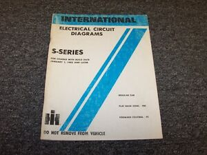 1983 international s series s1800 s1900 truck electrical circuit rh ebay com International S1800 1979 International S1900