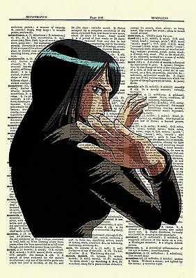 Nico Robin and Zoro One Piece Anime Dictionary Art Print Page Picture Poster