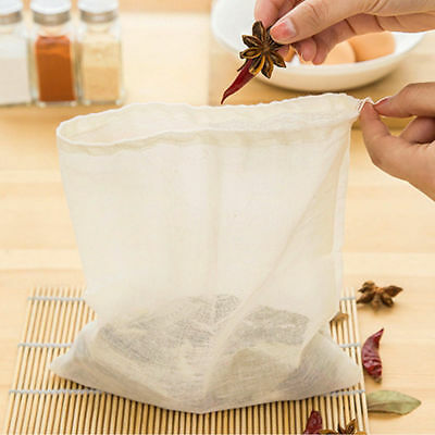 100 Pack 12x16 Inch Cotton Muslin Bag wih Drawstring Bath Soap Herbs Tea Bags
