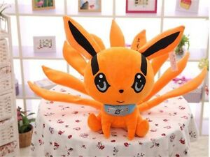 1pc Anime Naruto Yellow Plush Toy Nine-Tailed Fox Doll Cospaly Gift