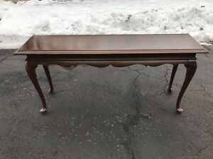 Details About Ethan Allen Georgian Court Cherry Vintage 225 Finish Extra Long Sofa Table
