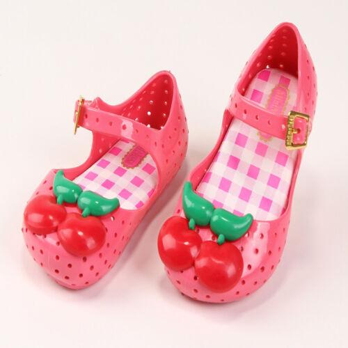 Mini Mini Shoes 2018 New Style Summer Girls Plastic Sandals Cherry Shoe girl