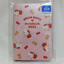 Sanrio Hello Kitty Pocket Datebook 2022 Monthly Schedule Book Agenda Planner