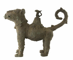 Grande-Pantera-Leopardo-Regno-Benin-Urna-Reliquiario-39cm-Arte-Africano-16721