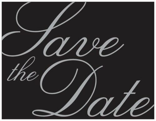 40 Personalized Custom Motorcycle Save the DATE Flat CARDS /& Envelopes