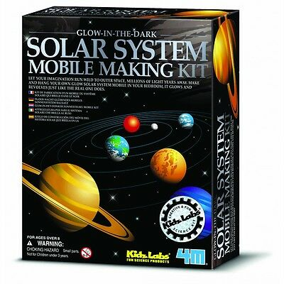 Solar System Mobile Making Kit Glow-in-the Dark Planets Science Fair Craft Toy