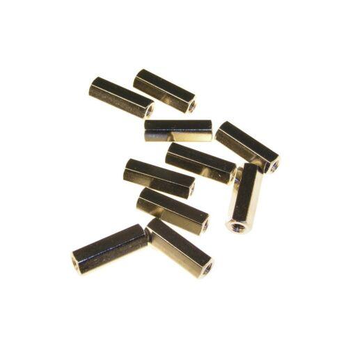 10 Distanzbolzen M3 x 45 mm Innen-Innen Abstandsbolzen 45mm 853696