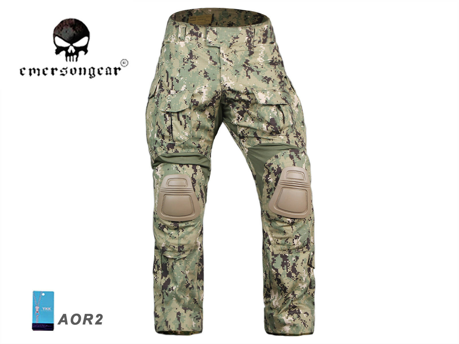 Airsoft Tactical bdu Pants Emerson Combat Gen3 Pants with Knee Pad AOR2