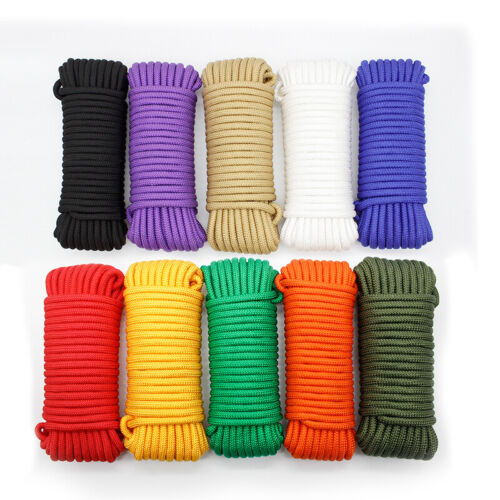 20//30M Outdoor Travel Clothesline Laundry Non-slip Washing Clothes Line Rope 4mm