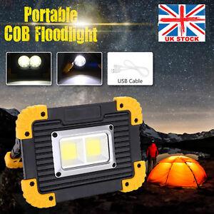 20w Cob Led Work Lights Car Fishing Night Rechargeable Usb