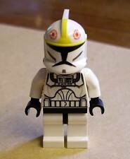 Lego Star Wars Clone Pilot (Clone Wars) Figur mit schwarzem Kopf Klone gelb Neu