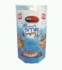 Instant-Smile-Comfort-Fit-Flex-Top-Teeth-Veneer-Cosmetic-One-Size-Fits-All-New
