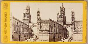 Palermo-Italia-Foto-Giorgio-Sommer-Stereo-PL55L2n-Vintage-Albumina-c1865
