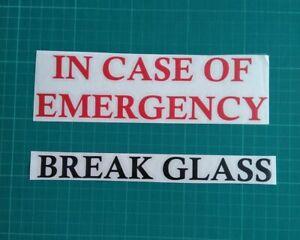 In Case Of Emergency Break Gl Vinyl Sticker Ikea Ribba Make