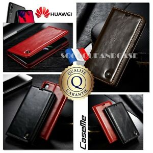 Etui-Coque-housse-Cuir-PU-Leather-Premium-Oil-Wax-Case-Cover-HUAWEI-P20-Pro