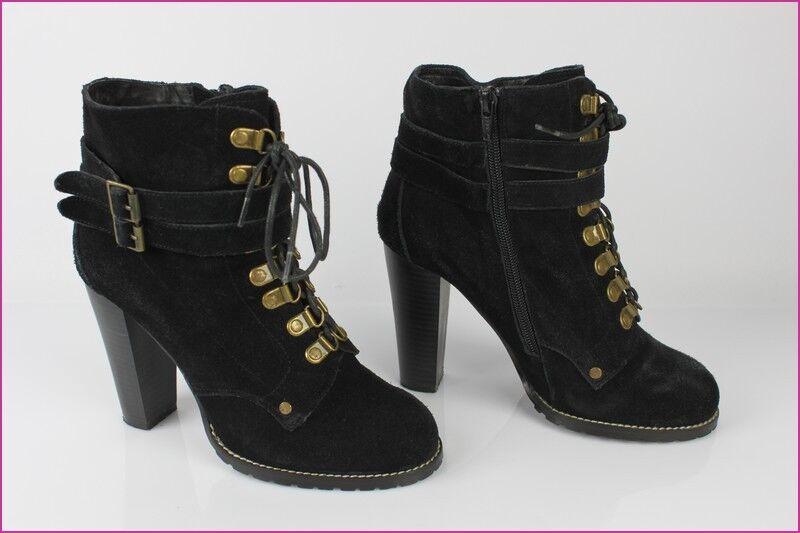 Bottines Boots ACTIVEWEAR  La Redoute Daim black T 38 TBE