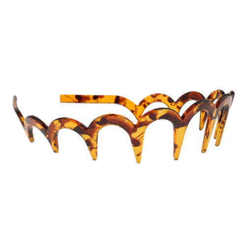 1Pc Resin Toothed Zig Zag Alice Hair Band Headband Sports Lady Mens Hair Hoop