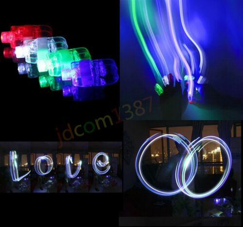 4PCS FINGER LIGHT UP RING LASER LED RAVE PARTY FAVORS GLOW BEAMS