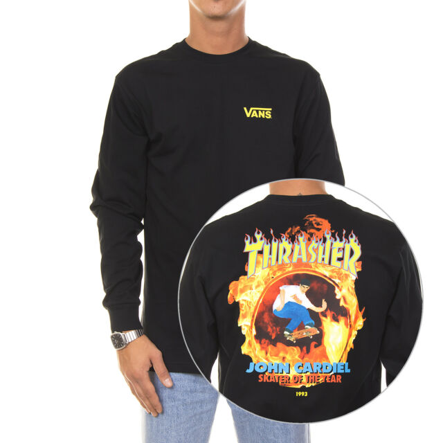 ce8cc179ee VANS X Thrasher Cardiel LS Black Size S-xl Flame Long Sleeve M for ...