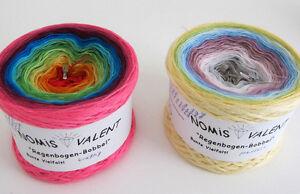 22-50-1000m-Regenbogen-Bobbel-4-faedig-49-Farbpartien-Verlaufsgarn