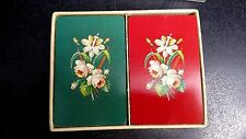 Vtg playing cards Guild needlepoint Anne Orr complete double deck plastic case