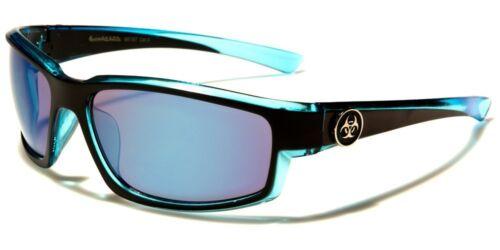 Biohazard Two-Tone Color Accents Rectangle Men/'s Sunglasses