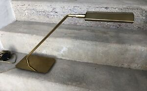 KOCH-amp-LOWY-BRASS-DESK-LAMP-MCM-MODERN-ANTHONY-HOWARD-DESIGN-c1970-s