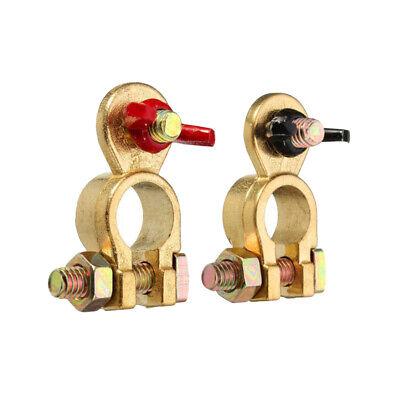 Neg Stud size M8 Black Red Pair of Wing Nut Marine Brass Battery Terminal  Pos