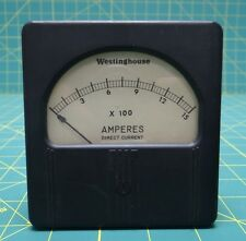 Westinghouse Panel Mount Ammeter 0 to 15 x 100 Amperes Direct Current