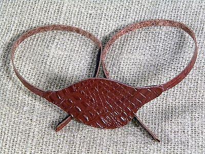 Leather Rich Brown Lizard Eye Patch - Right Eye