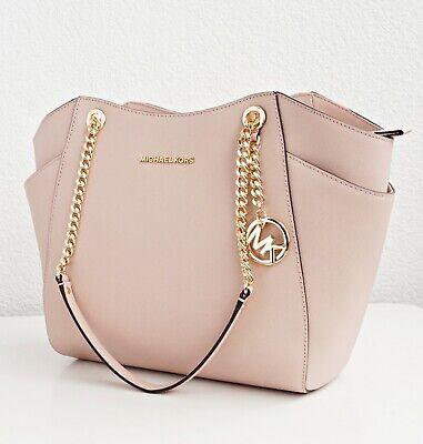 Original Michael Kors Bag Handbag Jet Set Travel Chain Saffiano Ballet New 190049661192   eBay