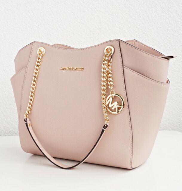 Original Michael Kors Handbag Jet Set Travel Chain Saffiano Ballet New