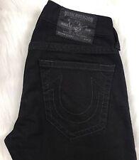 "Men's True Religion BLACK Jeans Size 32x33 ""Bobby"" Slim USA 100% Cotton"