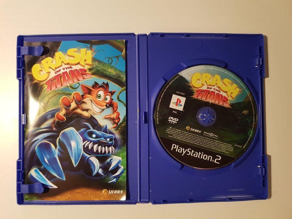 Crash Bandicoot, crash of the titans, PS2