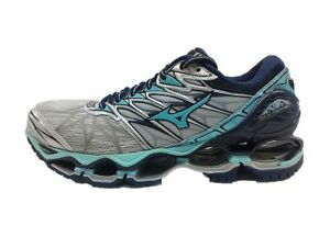 Mizuno-New-Wave-Prophecy-7-Women-039-s-Running-Shoes-Silver-Grey-J1GD180031-18U