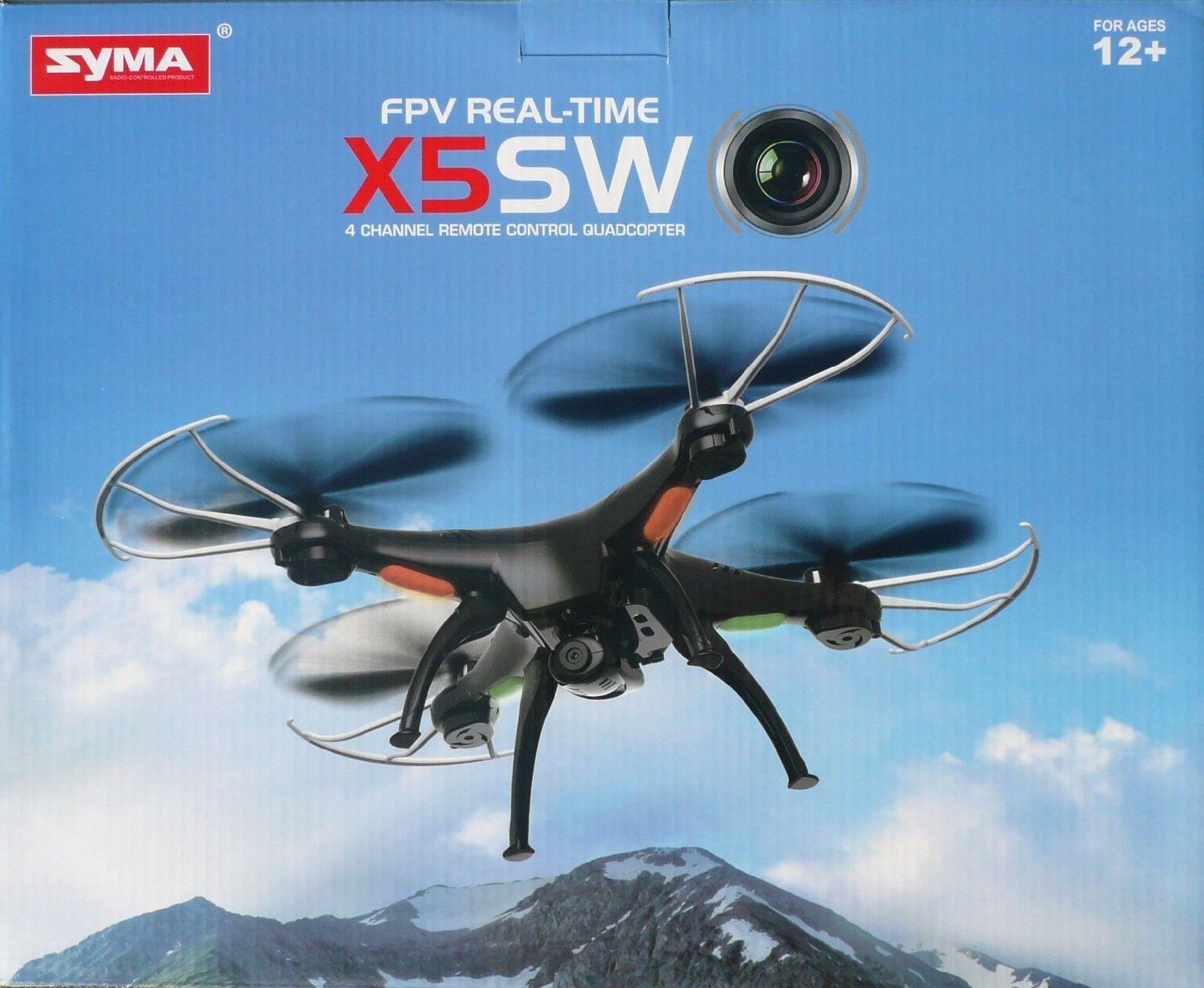 NEU Syma X5SW FPV Quadrocopter mit HD Kamera 2MP & Live-Übertragung DROHNE schwarz