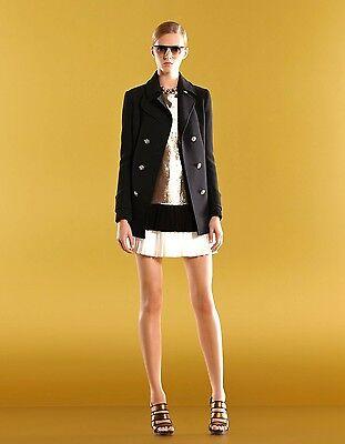 White Black Dot Tassels Pleated Knitted Mid Skirt Runway Occident 96w
