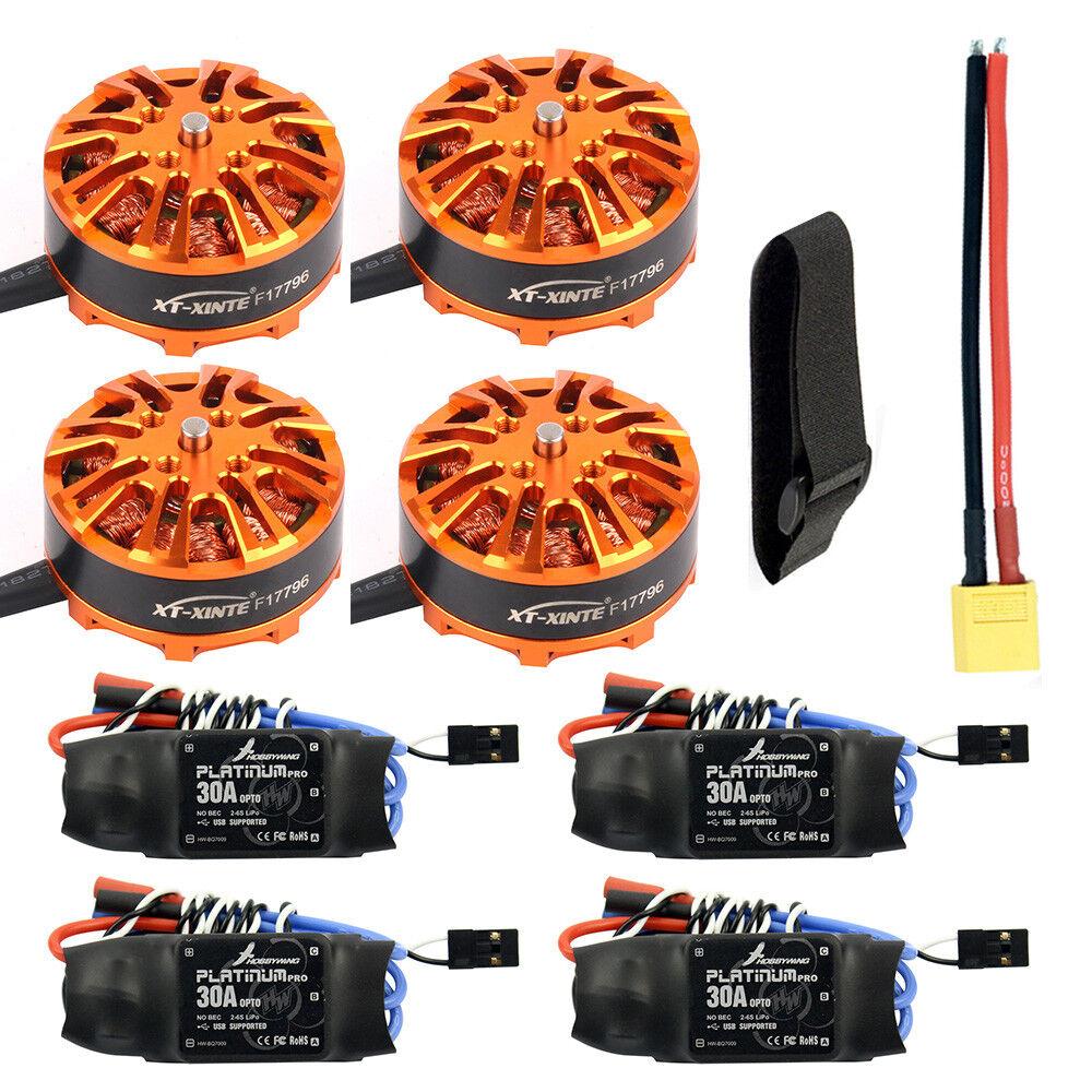 DIY Quadcopter Drone Motor Combo 4pcs 3508 700kv Motor+4pcs HOBBYWING Platinum