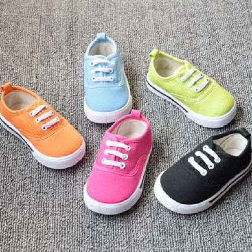 New Cute Kids Baby Toddlers Infants Candy Color Canvas Trainer Sneakers 1-4 Year