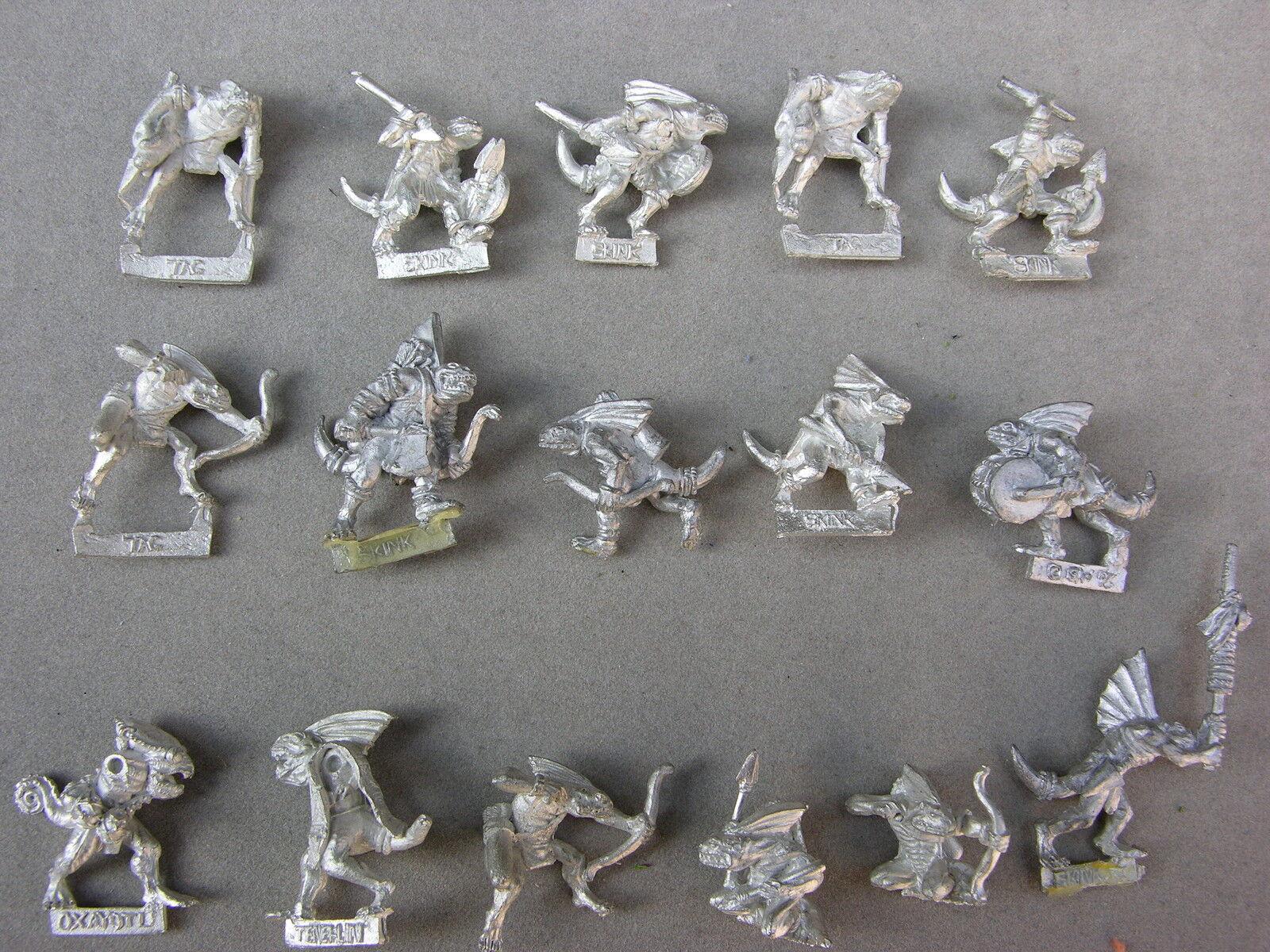 WARHAMMER LIZARDMEN ARMY, METAL SKINK WARRIORS, MULTI-LISTING