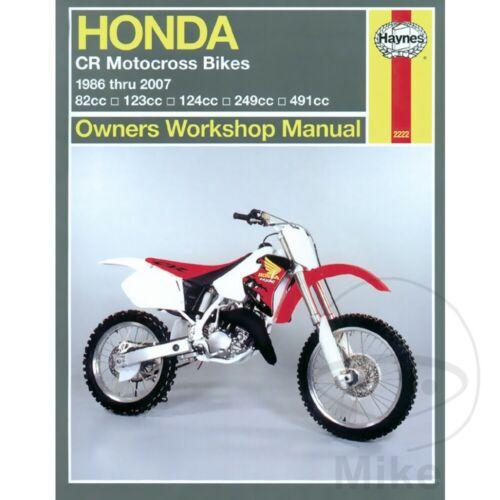 Honda CR 250 R 1998 Haynes Service Repair Manual 2222